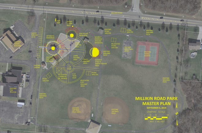 A recently adopted master plan for Fairfield Township's Millikin Road Park calls for a veterans memorial to be the focal point.