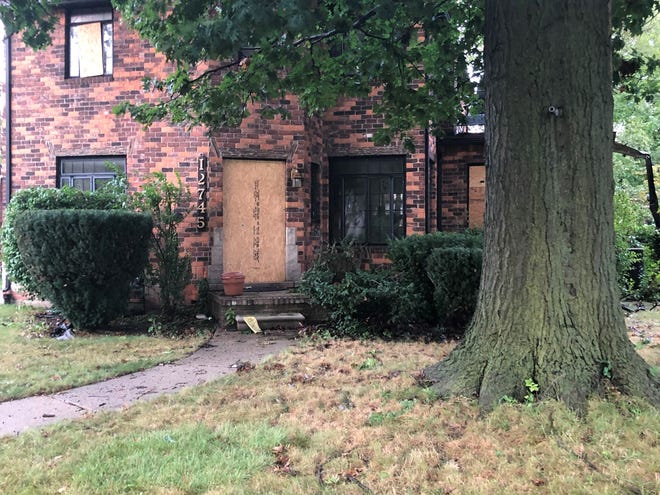 Jody and Tyronne Williams' east side Detroit home after a Sept. 12 fire. Tyronne, 61, was killed in the fire.