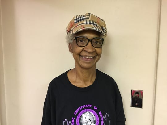 Bobbie N. Carruth attended church and worked her shift Sunday, then walked the picket line until 2 a.m. Monday. This image was taken at 2 a.m. on Sept. 16, 2019 at UAW Local 659.