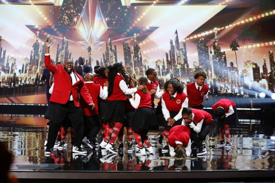"""The Detroit Youth Choir reacts last week to the news that it's moving on to the """"America's Got Talent"""" finals."""
