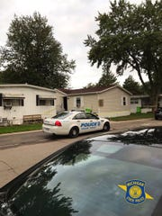 Authorities say Sterling Heights police shot and wounded a man who allegedly pointed a gun at officers who were responding to a report of an argument  in the 43000 block of Bonaparte in Sterling Heights on Sept. 16, 2019.