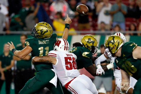 Wisconsin's defense, including senior outside linebacker Zack Baun, has stepped up to the challenge in the first two games.