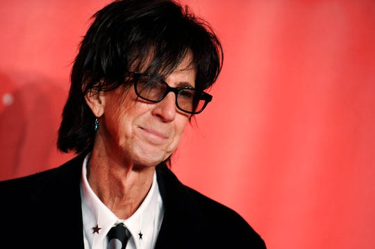 In this Feb. 6, 2015, file photo, Ric Ocasek of the Cars arrives at the MusiCares Person of the Year event at the Los Angeles Convention Center in Los Angeles. Ocasek, famed frontman for The Cars rock band, has been found dead in a New York City apartment. The New York City police department said officers responding to a 911 call found the 75-year-old Ocasek on Sunday, Sept. 15, 2019.