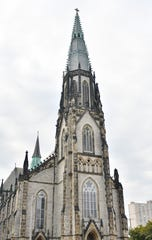 The restoration and repairs of St. Joseph Oratory's 200-foot spire in Detroit near Eastern Market is now complete.