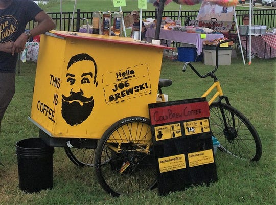 The Joe Brewski coffee trike at the Historic Newburgh Farmers Market in 2018.