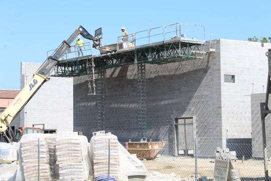 Work continued Monday on the new Lutz Elementary School site in Fremont. Superintendent Jon Detwiler said contractors are getting ready to pour concrete for the second floor decks at all four elementary school sites.