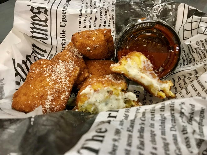 A basket of toasted ravioli from The Traveling Noodle food truck.