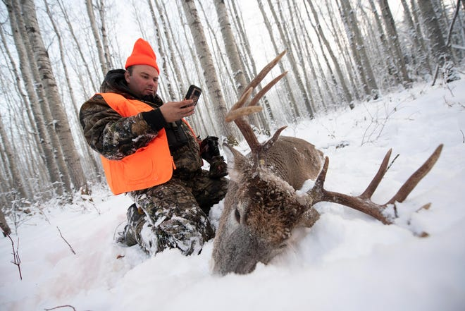 """Algoma resident Kevin Seiler takes aim at northwoods whitetails on an episode of """"Brotherhood Outdoors"""" that has been airing this week on the Sportsman Channel."""