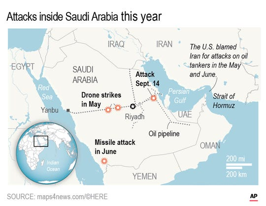 Drone attacks inside Saudi Arabia.;