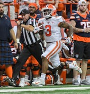 Amari Rodgers' 87-yard touchdown reception helped Clemson average 8.6 yards per play against Syracuse.