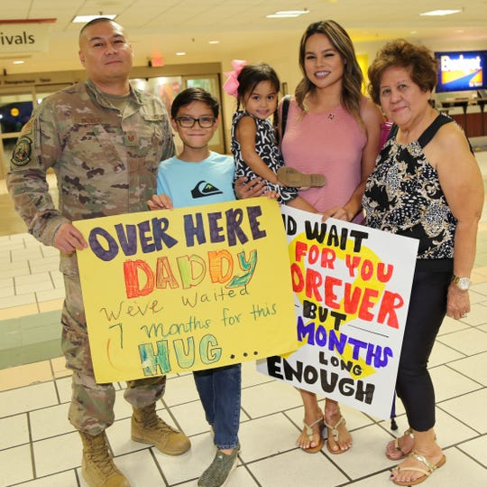Technical Sergeant John Patricio, from the Guam Air National Guard's 254th Air Base Group's Cyber Flight, returned home Sept. 14 from a deployment in support of Operation Inherent Resolve in Southwest Asia.