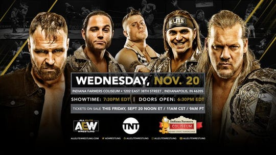 AEW will make its Indianapolis debut on Nov. 20