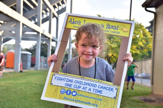 Tillery Phillips hosted Alex's Lemonade Stand at the Bearden homecoming game on Friday, Sept. 13, 2019. The stand served cups of cold lemonade for a donation to help fight childhood cancer.