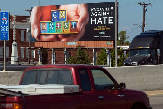 Knoxville Jewish Alliance has funded a billboard on I-40 east on Monday, September 16, 2019.