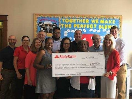 Solomon House, Iberia Perish's primary food bank, received a $19,500 grant from State Farm for a new generator after losing over 1,000 pounds of food during Hurricane Barry due to power outages.
