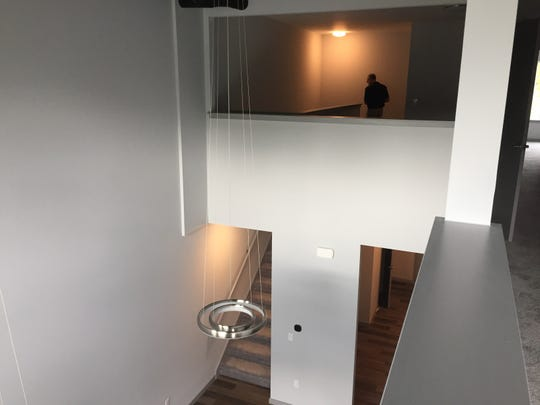 A townhouse-style condo in Second Street Flats in Brighton, seen Tuesday, Sept. 10, 2019, features what architect Piet Lindhout calls Romeo and Juliet openings on the second level, shown Tuesday, Sept. 10, 2019.