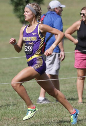 Lexington's Halle Hamilton took seventh place out of 253 runners at Saturday Night Lights in Centerville over the weekend.