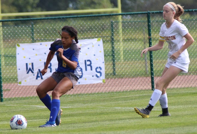 Ontario's Kyla Spencer scored seven goals in two games for the Lady Warriors while adding two assists as Ontario outscored its opponents 16-0 last week earning her a Mansfield News Journal Female Athlete of the Week nomination.