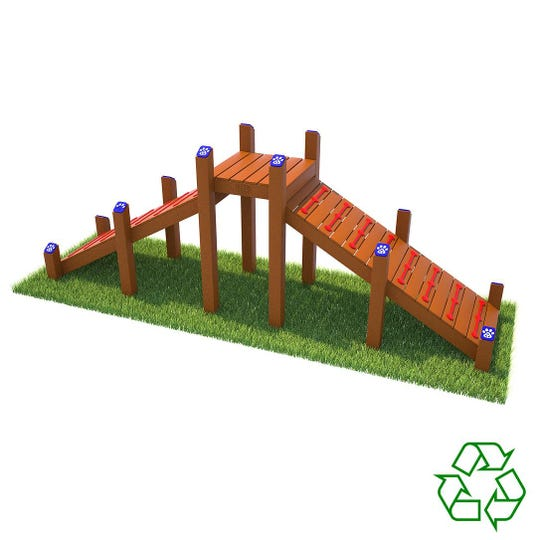 """A """"ramp-n-climb"""" is one piece of equipment that will be installed at the Bartlett Dog Park."""