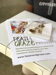 Feast & Graze offers home delivery of charcuterie boards.