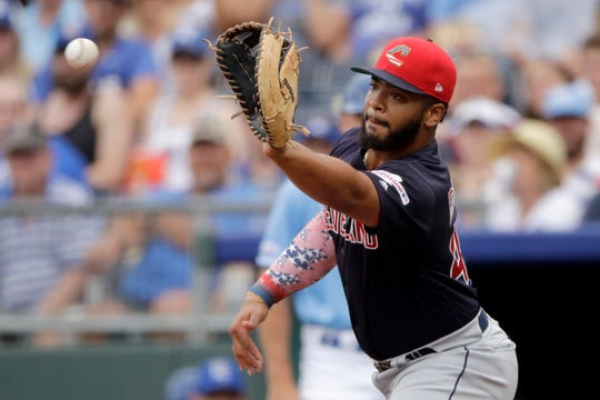 Cleveland's seventh-ranked prospect, Bobby Bradley, plays first base for the Clippers.