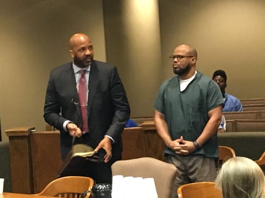 Billy Turner (right) appears in court September 16, 2019 with his defense attorney John Keith Perry.