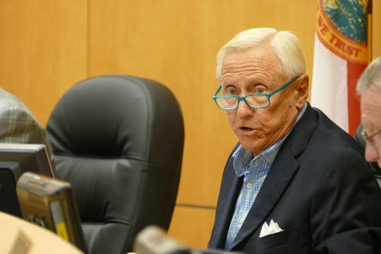 Chairperson of the Marco Island City Council, Erik Brechnitz, requested a motion to approve the 2019-2020 city budget on Sept. 16, 2019.