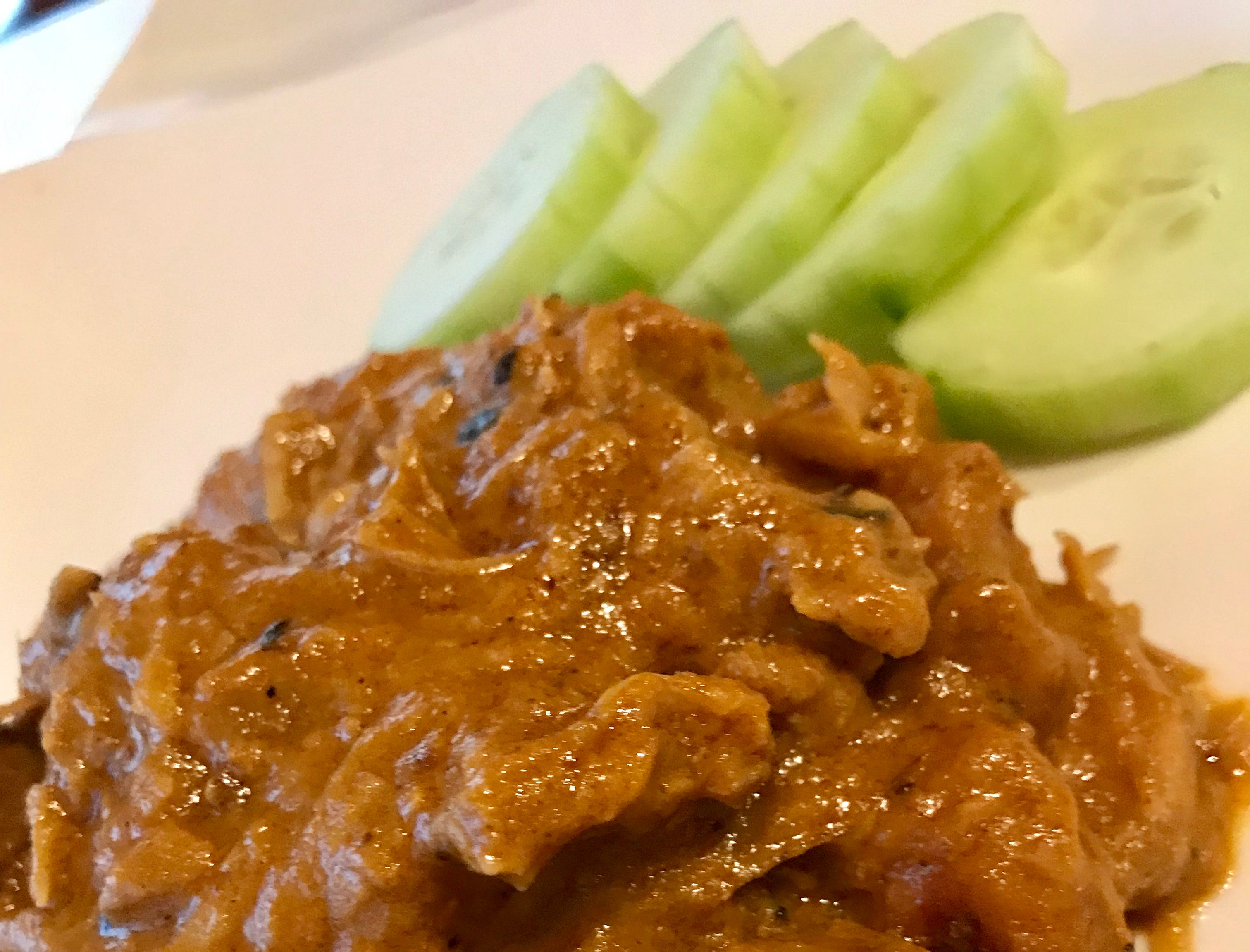 Chicken rendang, flavored with coconut, is one of the Malaysian dishes at Mr. Wok in Pewaukee.