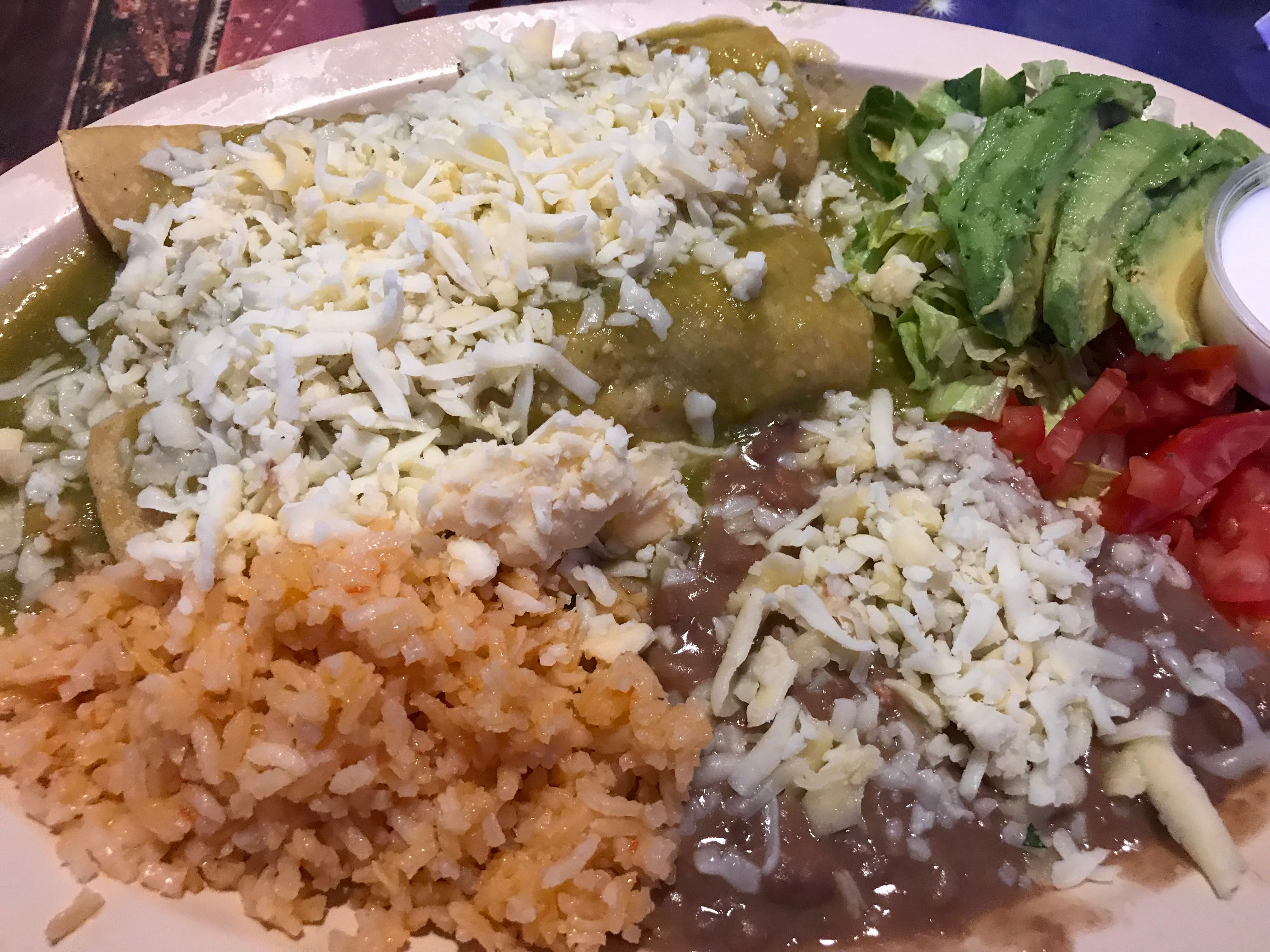 Enchilada dinners are on the menu at Chilango Express, 7030 W. Lincoln Ave., West Allis. The restaurant makes its own tortillas.