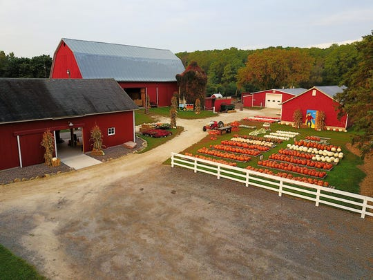 Creekside Valley Farm's indoor activities include a barn where apple cider is sold as well as a barn with a craft store and theater room.