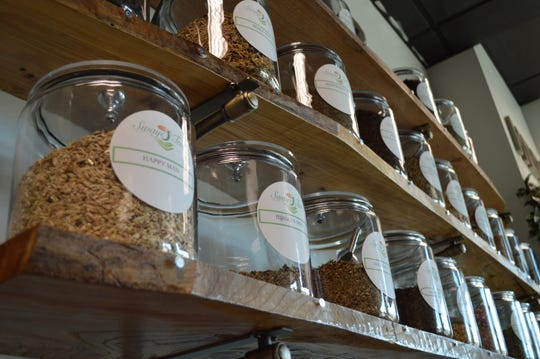 Swaye' Tea carries 60 herbs, which can becombinedto make specialty medicinal tea blends. The herbs are priced per ounce, ranging from about $1 to $7.