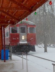 The East Troy Electric Railroad Christmas train takes families from the East Troy depot to Santa's workshop at Elegant Farmer.