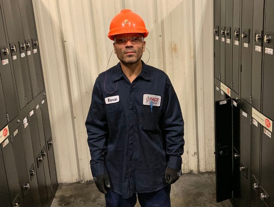 Ramiah Whiteside began a job at Pace Industries in Grafton during prison work release and continues to work there now that he has been paroled.