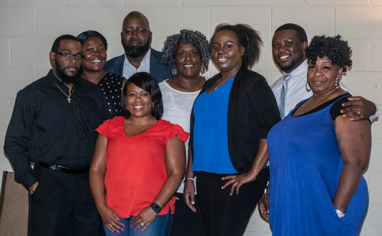 """Cast members for """"Wrong Match,"""" a play about domestic violence being performed Saturday at Troy University's Davis Theatre in downtown Montgomery."""