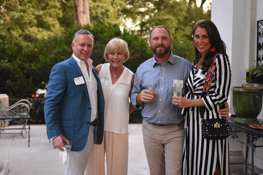 Jay Joyner, Mindy Jacoway, Will Tucker and Maggie Tucker attend the Antiques & Garden Show kickoff.