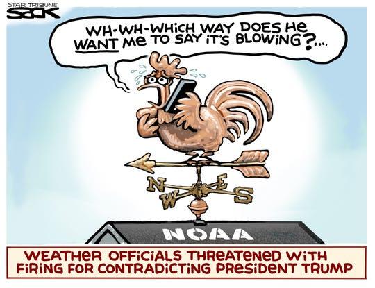 NOAA's chicken on weather vane.