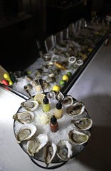 The oyster bar is shown at Stern & Bow, in Closter. Monday, September 16, 2019