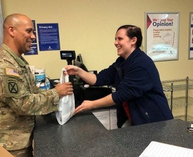 Meet the Army & Air Force Exchange Service's 40,000th Veteran/military spouse hire. Katherin at Patrick AFB is helping the Exchange reach its goal of hiring 50,000 military spouses and Veterans by 2020.