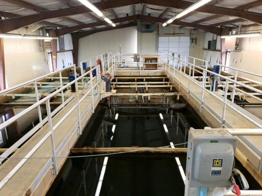 The interior of the Alto Crest water treatment plant show the structure is in solid shape.