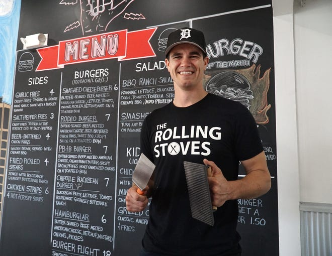 David Mansfield (pictured) and his brother Josh will be manning the grill, fryer and stove and Farmington's Rolling Stoves starting Sept. 23. The mobile food truck eatery will open a permanent restaurant at the northeast corner of Farmington and Eight Mile.