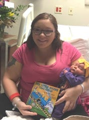 The first baby born at Acadian Medical Center on Sunday, Sept. 8, was Preslynn Jayde Thibodeaux. Her mother is Shelby McBride of Eunice and her father is Brad Thibodeaux. She will begin receiving a book each month until she turns five.