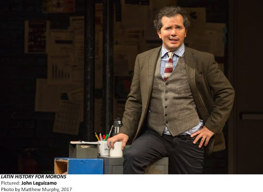 "John Leguizamo in ""Latin History for Morons,"" 2017 at Studio 54 in New York City."