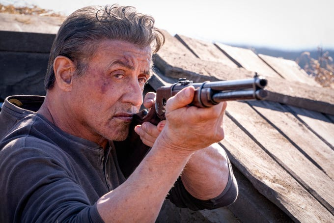 "Sylvester Stallone stars in ""Rambo: Last Blood."""