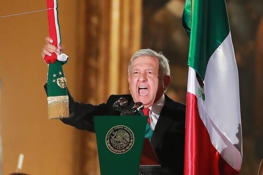 Por primera vez en México, el grito de independencia fue encabezado por un presidente de izquierda.