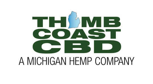 The logo for Thumb Coast CBD, a business that hopes to open a storefront in St. Clair in the next three months.