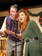 Patrick Manning and his wife, Christine, in a performance for Clove Creek Dinner Theater.