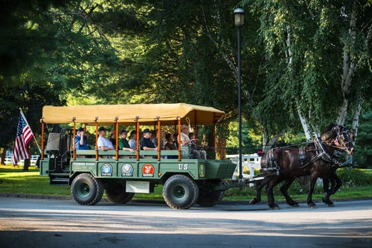Frank Castella's Warrior Wagon is a horse-drawn carriage service.