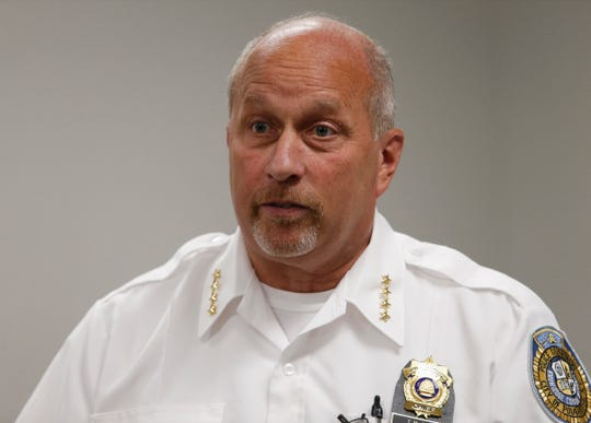 City of Poughkeepsie Police chief Thomas Pape at police headquarters on July 9, 2019.