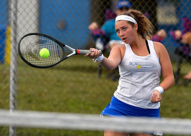 Kennard-Dale Brianna Serruto is seen here in a file photo. Serruto and the Rams face West York on Monday in a key York-Adams Division II girls' tennis match.