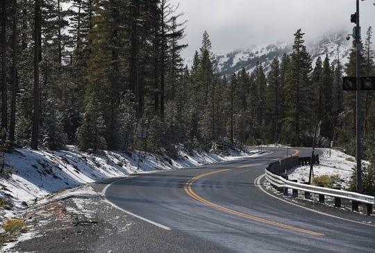 An image of Mt. Rose Highway near the Mount Rose Ski Tahoe Resort that was taken on Monday, Sept. 16, 2019.